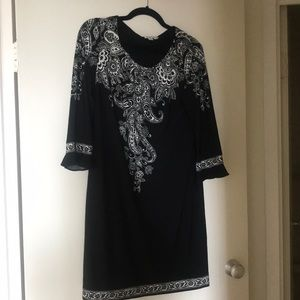 London Times black and white dress